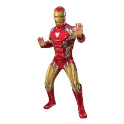 Men's Marvel Avengers Iron Man Deluxe Halloween Costume XL