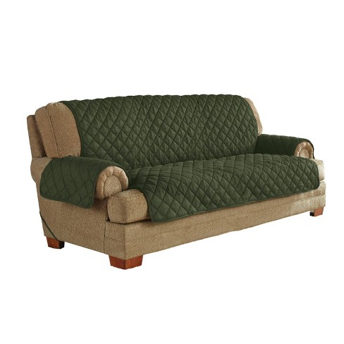 Ultimate Waterproof Furniture Protector With Neverwet Sofa Slipcover Green Serta