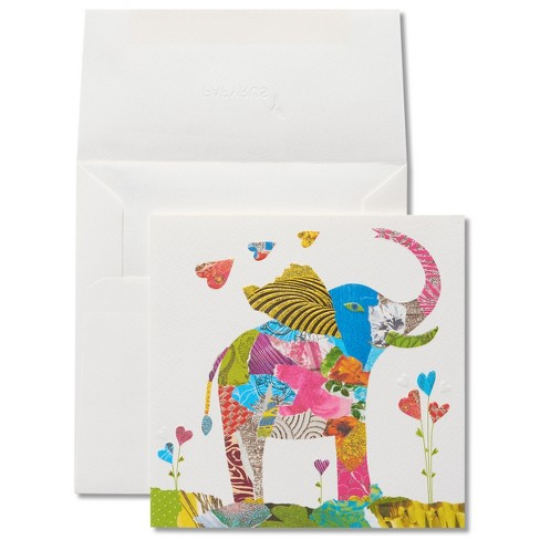 Papyrus Collage Elephant Birthday Card