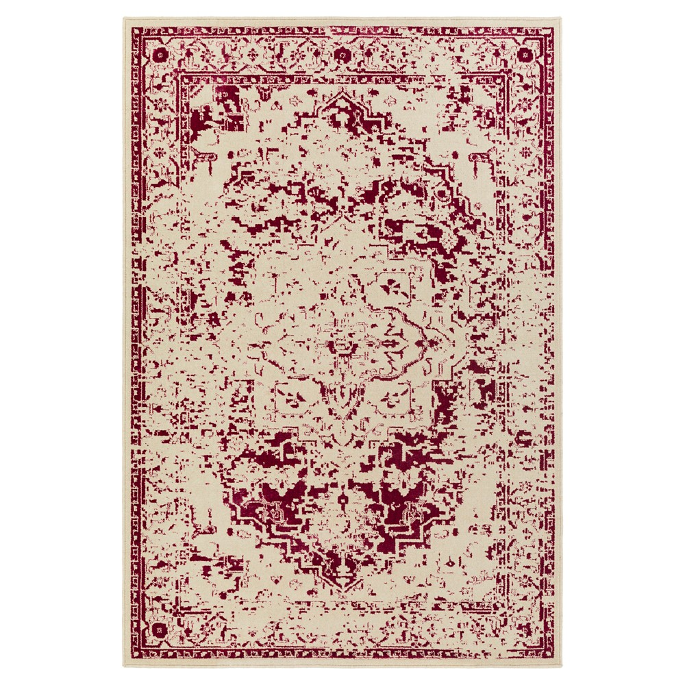 Pink Solid Tufted Accent Rug - (2'X3') - Surya, Bright Pink