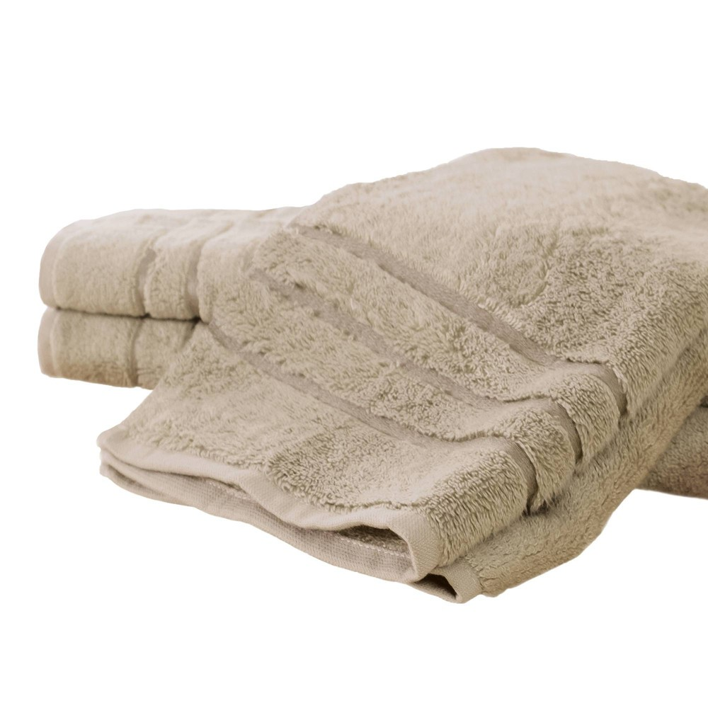 Image of 3pc Rayon from Bamboo Hand Towel Set Stone - Cariloha, Grey