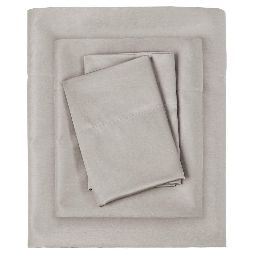 Liquid Cotton Sheet Set (California King) Silver