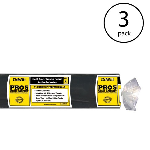 """DeWitt P4 4 x 250"""" 5 Oz Pro 5 Commercial Landscape Weed Barrier Fabric (3 Pack) - image 1 of 3"""