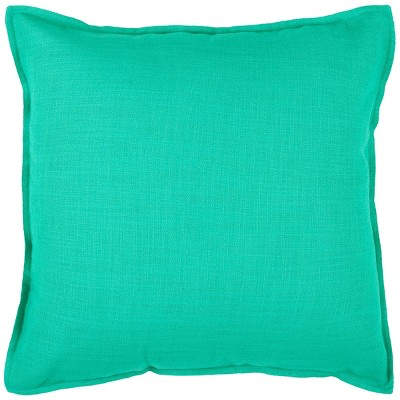 "20""x20"" Solid Throw Pillow Turquoise - Rizzy Home"