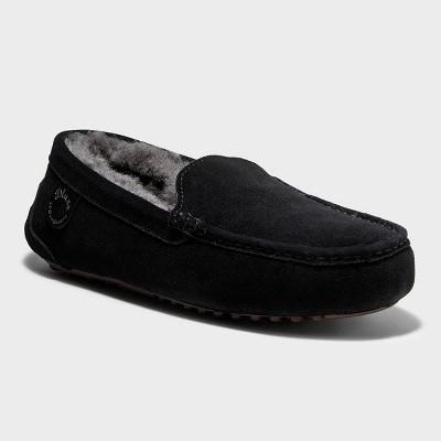 Men's dluxe by dearfoams Nelson Genuine Shearling Moccasin Slippers