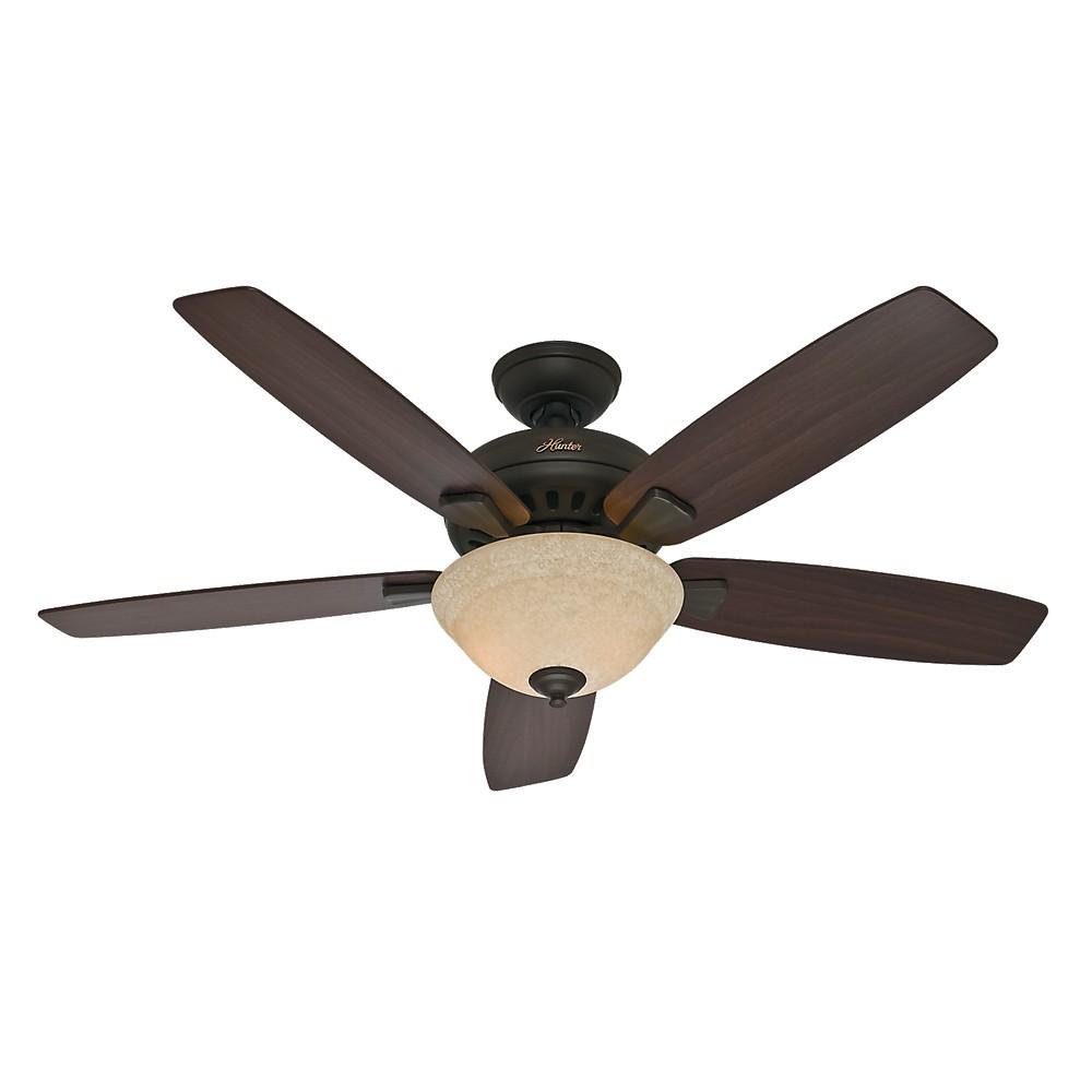 Image of 52 Banyan Lighted Ceiling Fan Bronze - Hunter Fan