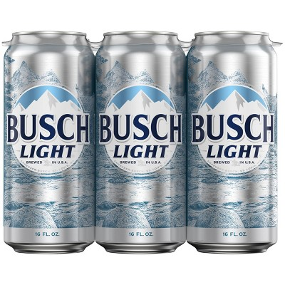 Busch Light Beer - 6pk/16 fl oz Cans