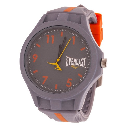 Everlast® Soft Touch Accented Rubber Strap Watch - Gray - image 1 of 1