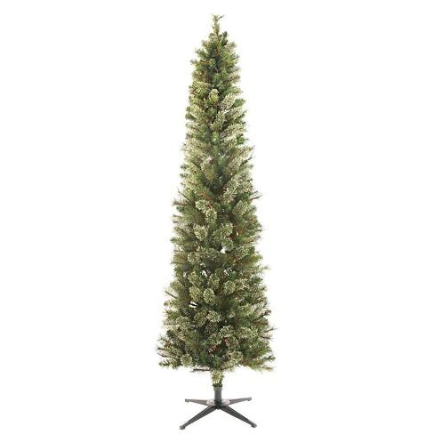 7.5ft Pre-lit Artificial Christmas Tree Pencil Virginia Pine Multicolored Lights - Wondershop™ - image 1 of 4