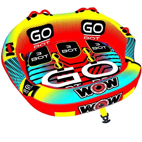 WOW Watersports 3-Person Go Bot Towable Extreme Secure Inflatable Water Tube with Nylon Cover and Easy Entry System - image 1 of 2