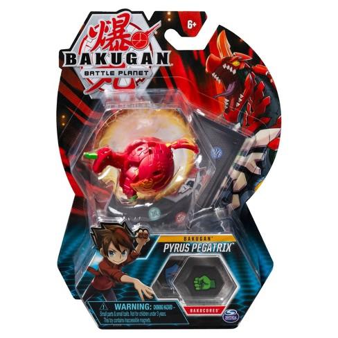 "Bakugan Pyrus Pegatrix 2""Collectible Action Figure and Trading Card - image 1 of 4"