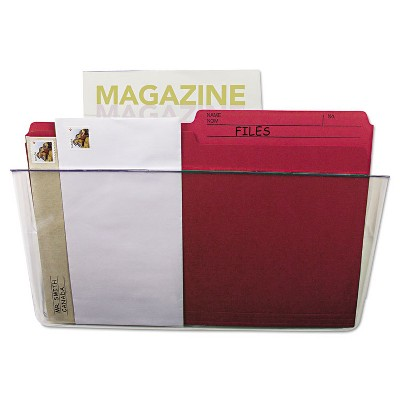 STOREX Wall File Letter 13 x 7 Single Pocket Clear 70213U06C