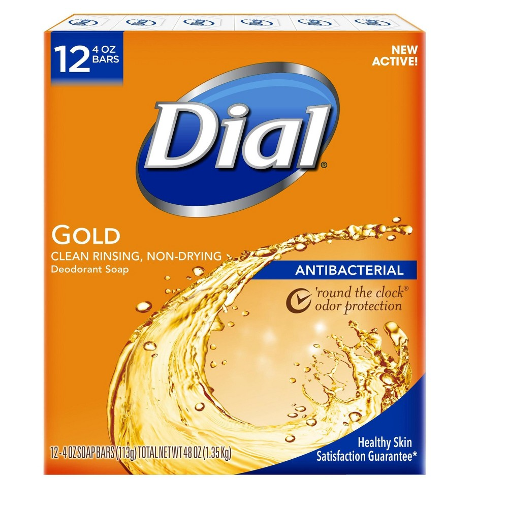 Image of Dial Antibacterial Deodorant Gold Bar Soap - 4oz/12pk Each