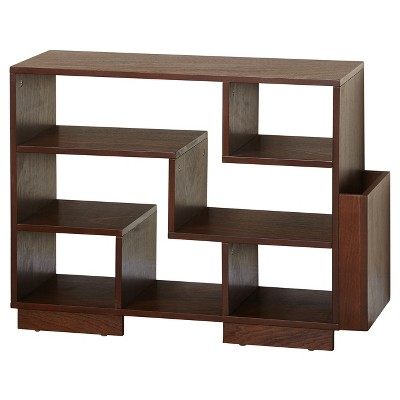24  Leon Mid Century Bookcase Walnut - Angelo:HOME