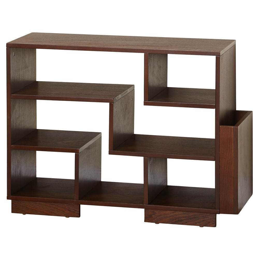 "Image of ""24"""" Leon Mid Century Bookcase Walnut - Angelo:HOME, Brown"""