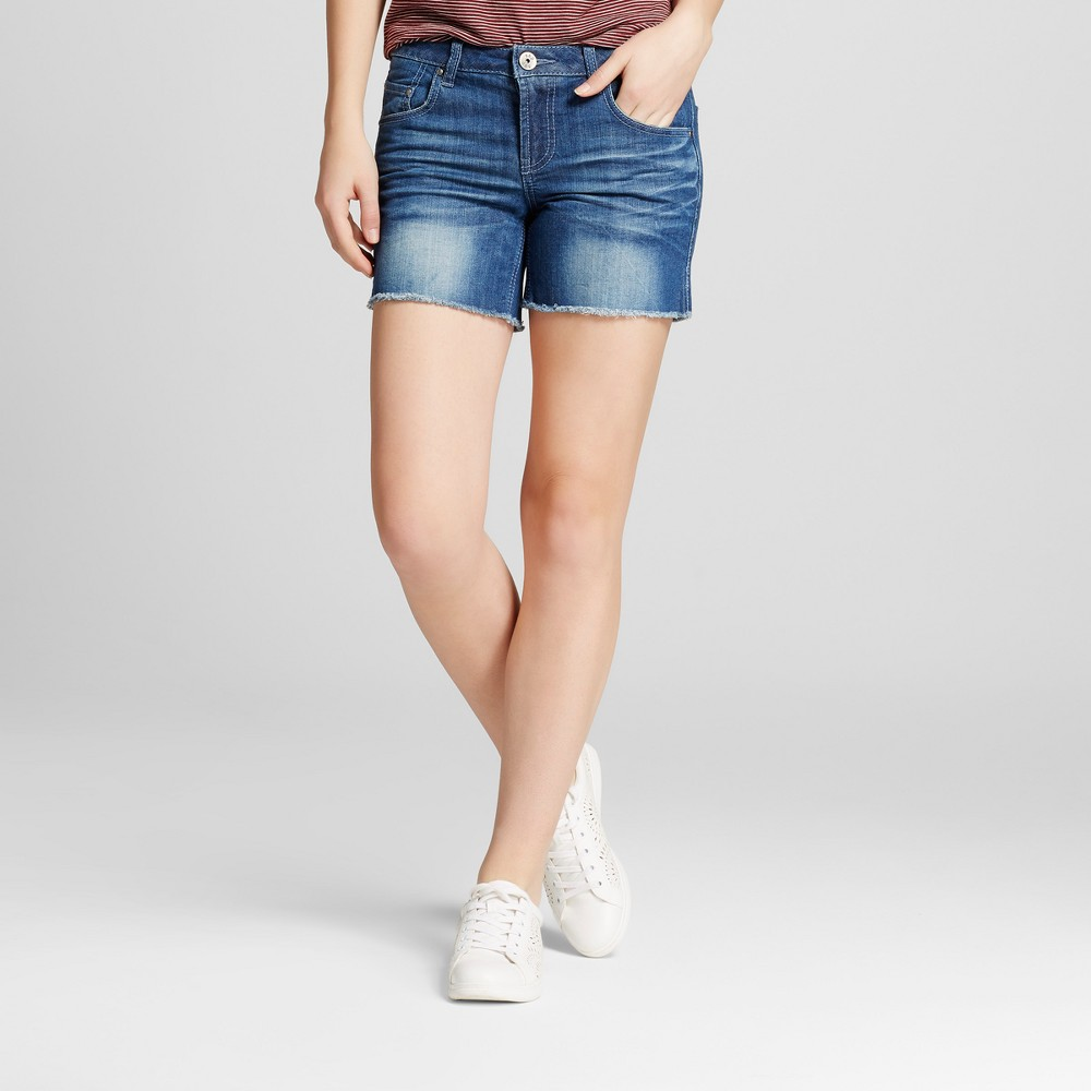 Women's 5 Cutoff Frayed Jean Shorts - S&p by Standards and Practices Blue 31