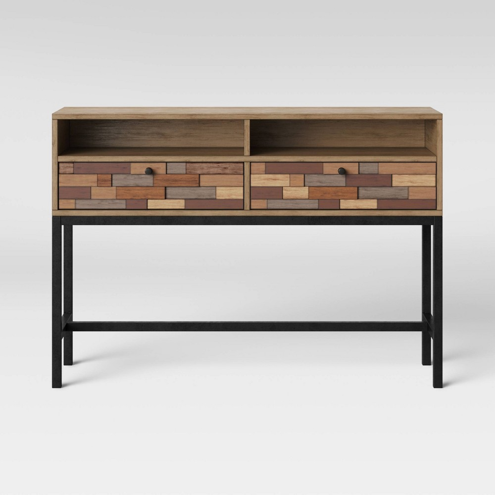 Frederick Pieced Wood Console Table with Metal Legs Brown - Project 62