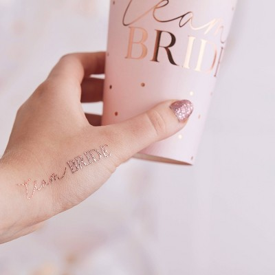 Team Bride Tattoos Bronze