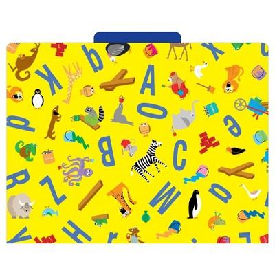 "Barker Creek File Folders, 9.5"" x 12"", 12ct - ABC Animals"