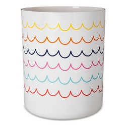 Bathroom Wastebasket White - Pillowfort™