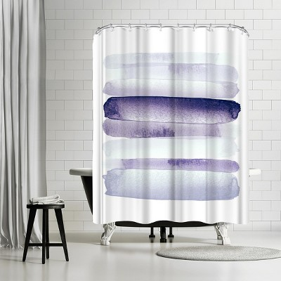 """Americanflat Move Forward Purple by Amy Brinkman 71"""" x 74"""" Shower Curtain"""