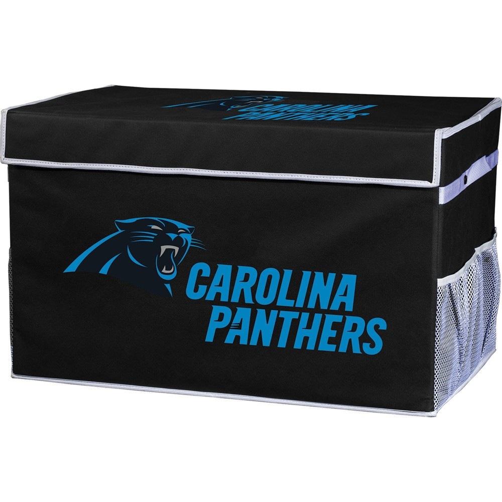 Nfl Franklin Sports Carolina Panthers Collapsible Storage Footlocker Bins Large