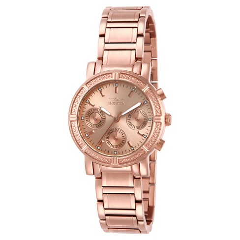 Women's Invicta 14874 Wildflower Quartz 3 Hand Rose Gold Dial Link Watch - Rose Gold - image 1 of 1