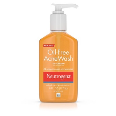 Facial Cleanser: Neutrogena Oil-Free Acne Wash