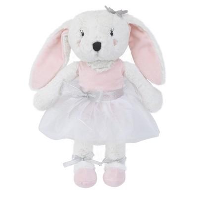 NoJo Plush Bunny - Ballerina Bows - White