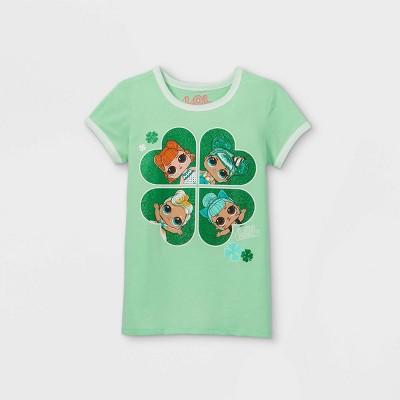 Girls' L.O.L. Surprise! Clover Short Sleeve Graphic T-Shirt - Green