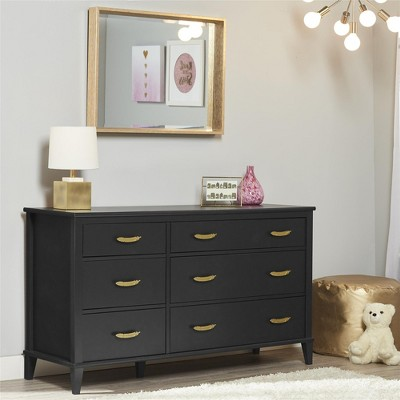 Monarch Hill Hawken 6 Drawer Dresser, Black