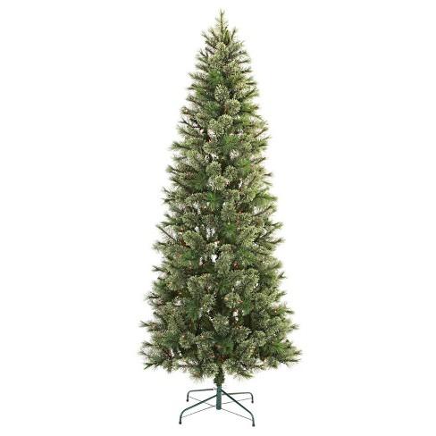 7.5ft Pre-lit Artificial Christmas Tree Slim Virginia Pine Multicolored Lights - Wondershop™ - image 1 of 4