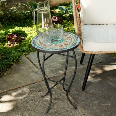 Outdoor Mosaic Accent Side Table - Haven Way