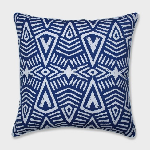 "25"" Tribal Dimensions Floor Pillow Blue - Pillow Perfect - image 1 of 1"