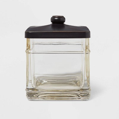 Antique Glass Bath Canister Brown - Threshold™