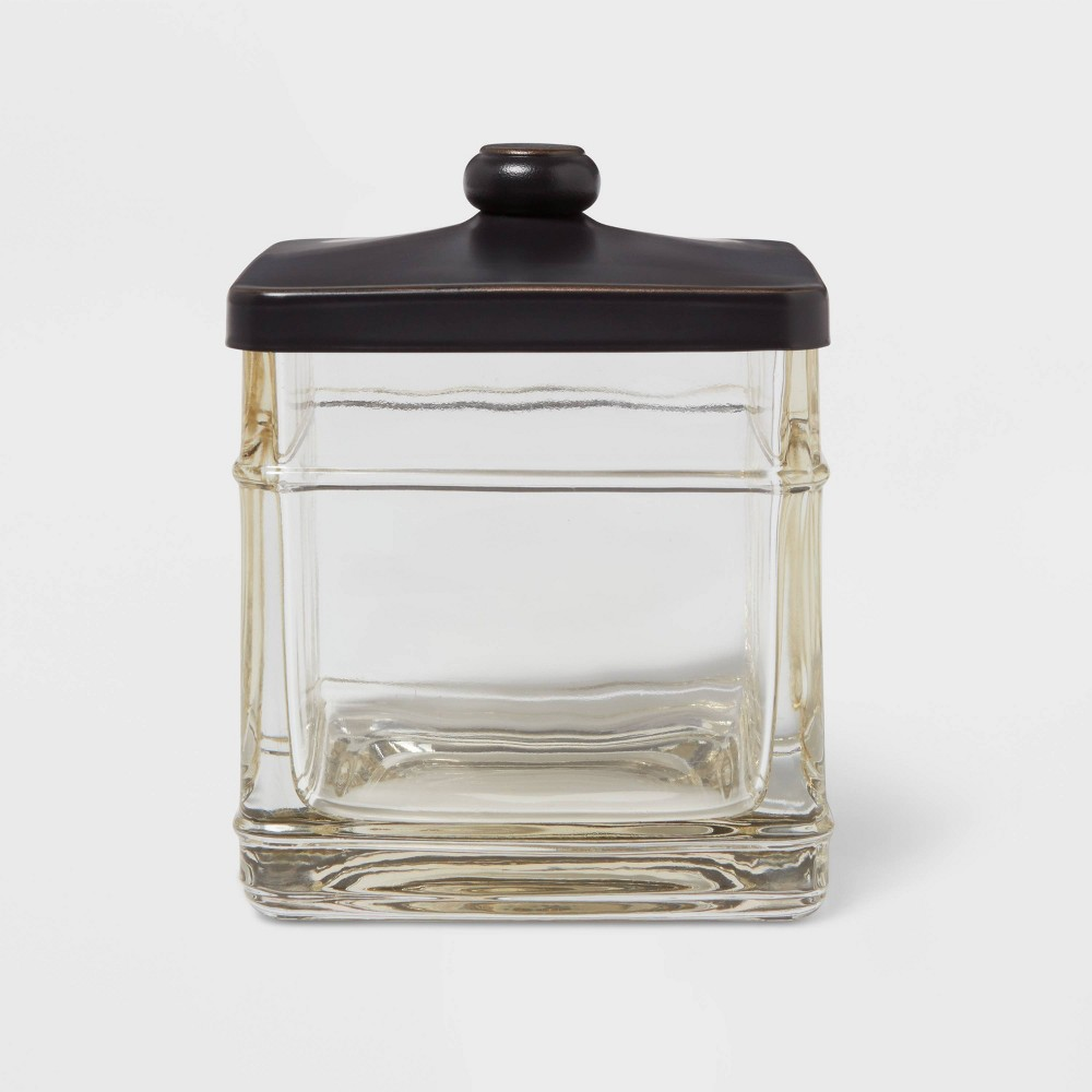Antique Glass Bath Canister Brown Threshold 8482