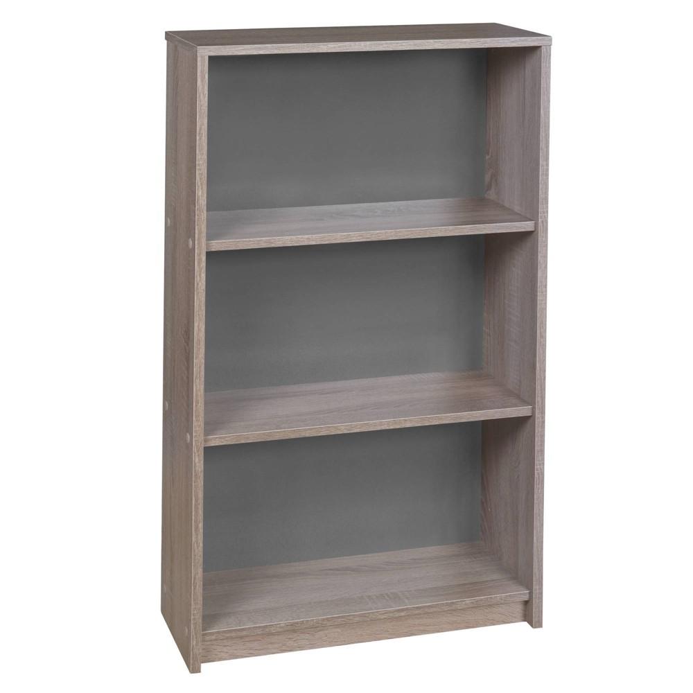 42 34 Central 3 Shelf Bookcase Latte Niche