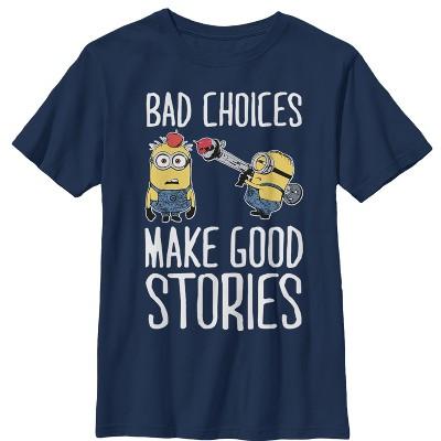 Boy's Despicable Me Minion Bad Choices T-Shirt