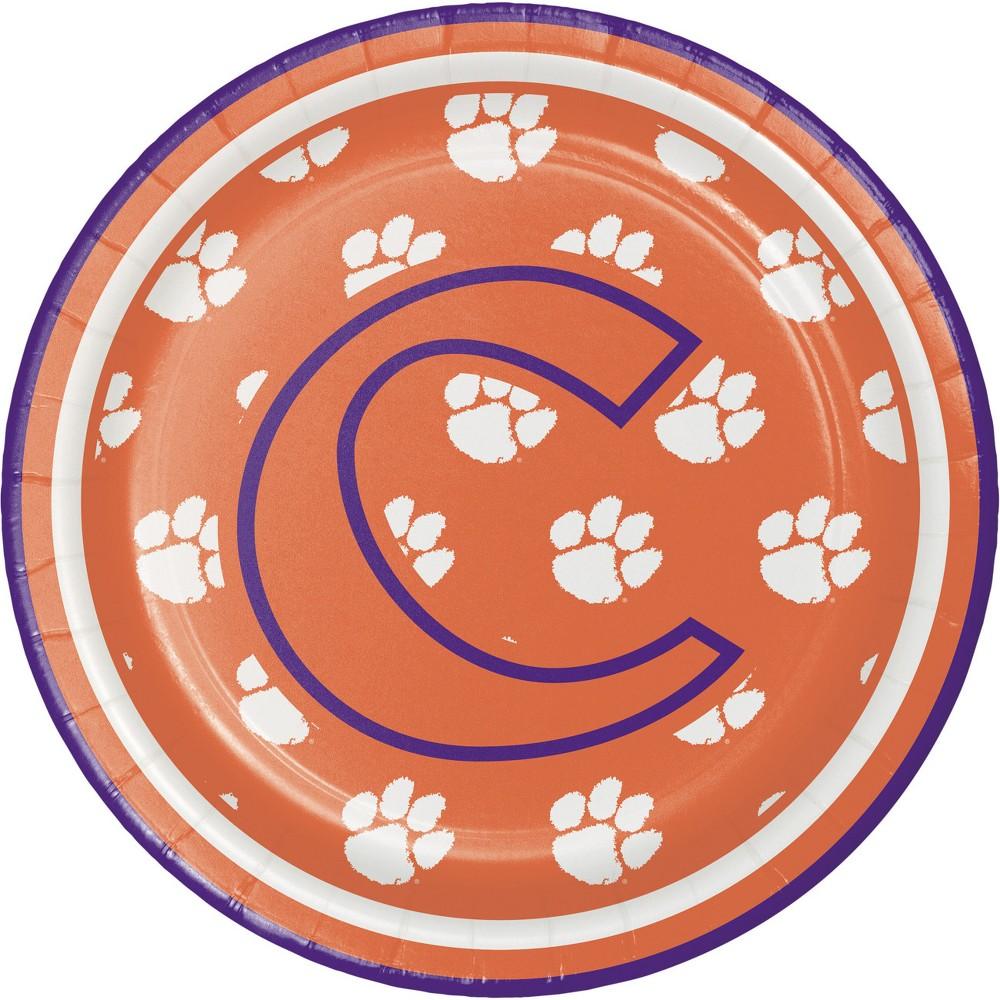 Image of 24ct Clemson Tigers Dessert Plates Orange