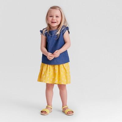 Toddler Girls' Smocked Top and Seersucker Skirt Set - Genuine Kids® from OshKosh 2T