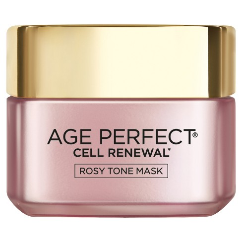 L'Oral Paris Age Perfect Cell Renewal Rosy Tone Mask - 1.7 fl oz - image 1 of 4