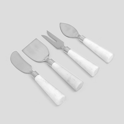 Set of 4 Cheese Knives Marble White - Threshold™