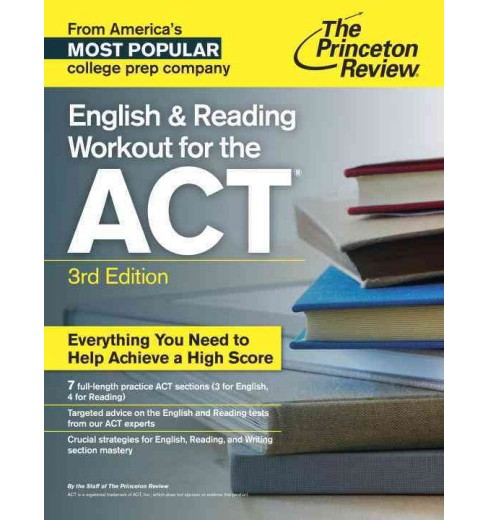 English and Reading Workout for the ACT (Paperback) - image 1 of 1