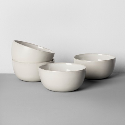 4pk Stoneware Cereal Bowl Cream - Hearth & Hand™ with Magnolia