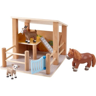 HABA Little Friends Petting Zoo with 3 Exclusive Farm Animal Figures