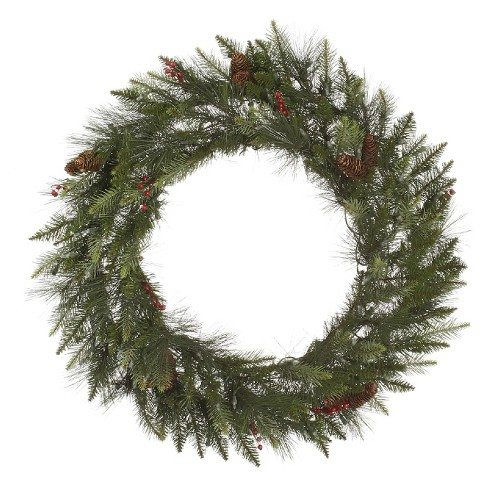 "Vickerman® 42"" Christmas Unlit Vallejo Mixed Pine Wreath - image 1 of 1"