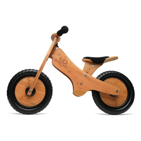 Kinderfeets Durable Wooden Resting Pedal Starter Balance Bike and Toddler Training Bicycle Sturdy Ride On Toy for 2 Years and Older, Bamboo - image 1 of 4
