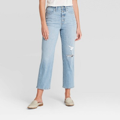 Women's High-Rise Vintage Straight Jeans - Universal Thread™ Light Wash