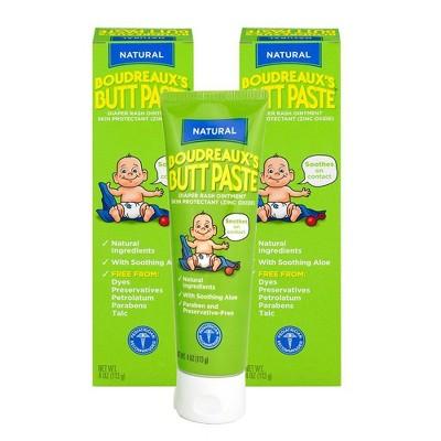 Boudreaux's BP Butt Paste Baby Diaper Rash Cream with Natural Aloe - 4oz/2pk
