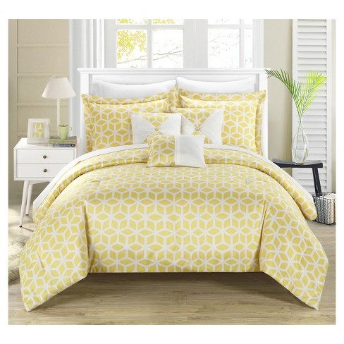 Ritchelle Geometric Diamond Printed Reversible Comforter Set 10